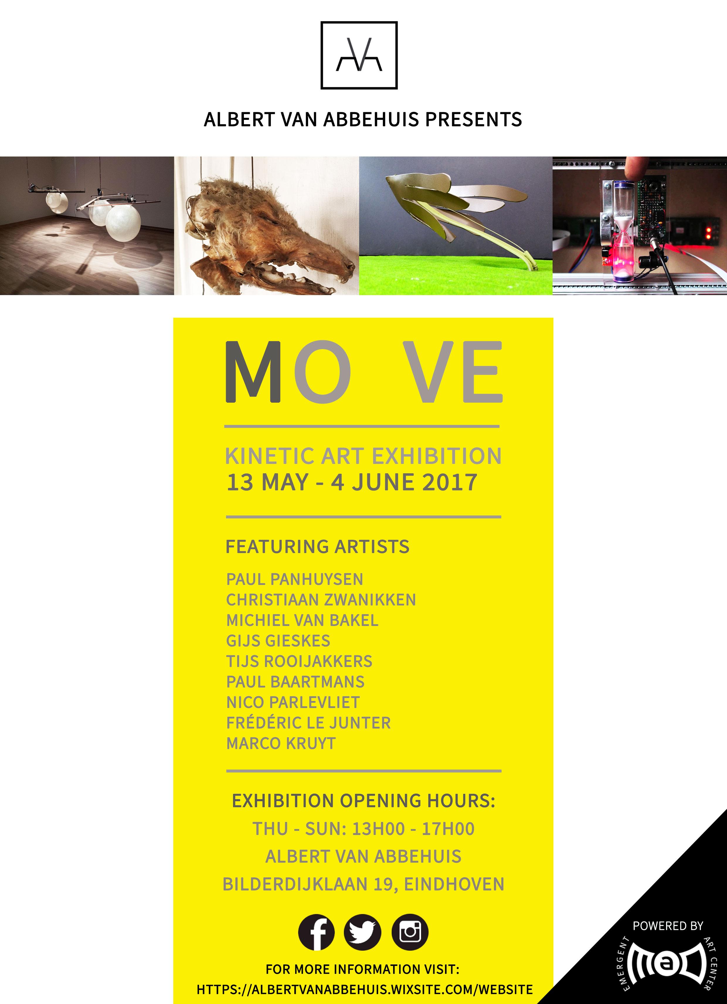 Expositie Kinetische kunst: MOVE, van Abbehuis, Eindhoven