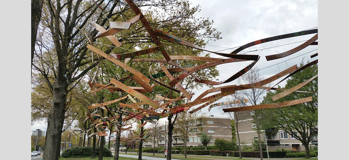 bomen kunstwerken