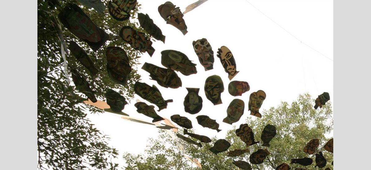 kunst in bomen